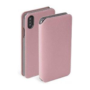 Krusell Pixbo 4 Card FolioCase iPhone X/XS Læder Flip Cover - Pink
