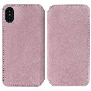 Krusell Broby Slim Wallet iPhone XS/X Ruskind Flip Cover - Pink