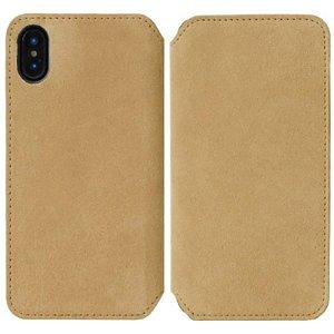 Krusell Broby Slim Wallet iPhone XS/X Ruskind Flip Cover - Beige