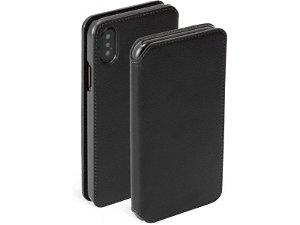 Krusell Pixbo 4 Card FolioCase iPhone Xs Max Læder Flip Cover - Sort