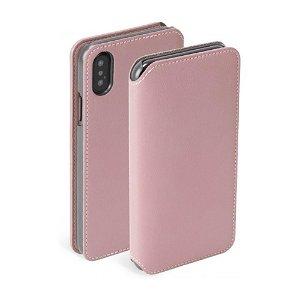 Krusell Pixbo 4 Card FolioCase iPhone Xs Max Læder Flip Cover - Pink
