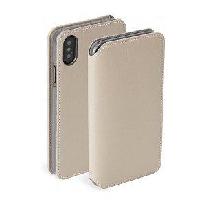 Krusell Pixbo 4 Card FolioCase iPhone Xs Max Læder Flip Cover - Beige
