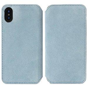 Krusell Broby Slim Wallet iPhone XS Max Ruskind Flip Cover - Blå