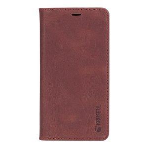 Krusell Sunne 2 Card Folio Wallet iPhone Xs Max Læder Flip Cover - Rød