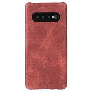 Krusell Sunne Cover Samsung Galaxy S10+ (Plus) Læder Cover - Rød