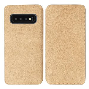 Krusell Broby Slim Wallet Samsung Galaxy S10+ (Plus) Ruskind Flip Cover - Beige