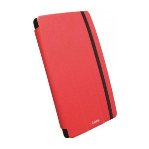 Krusell Universal Tablet Læder Cover Rød (Maks Str. 265 x 180 mm)