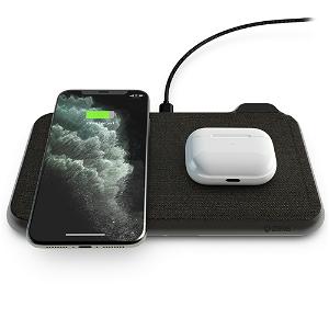 ZENS Liberty Dual Trådløs 30W Fast Charge Oplader til Smartphones & AirPods  - Sort