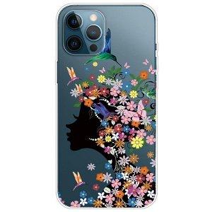 iPhone 13 Pro Max Fleksibel Plastik Bagside Cover - Blomster og Skønhed