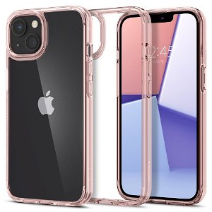 iPhone 13 Mini Spigen Ultra Hybrid Bagside Cover - Gennemsigtig / Rosa