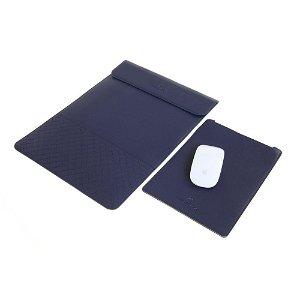 GEARMAX Ultra Thin Sleeve Læder til MacBook Pro 15 m. Musemåtte Blå