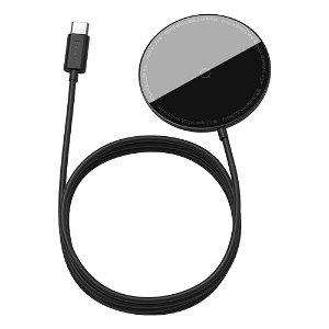 Baseus Simple Mini Magnetisk Trådløs Oplader - Kompatibel med MagSafe - Sort