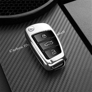 DUX DUCIS Audi Bilnøgle Cover (Nye Audi Modeller A1/A2/A3/Q2/Q3/S3) - Sølv