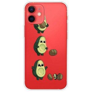 iPhone 13 Mini Fleksibel Gennemsigtig Plastik Bagside Cover - Avocado