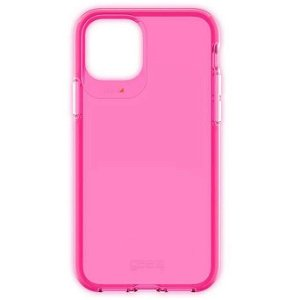Gear4 D3O Crystal Palace iPhone 11 Pro Max Plastik Cover - Gennemsigtig / Neon Pink