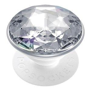 POPSOCKETS Disco Crystal Silver Premium Holder og Stand
