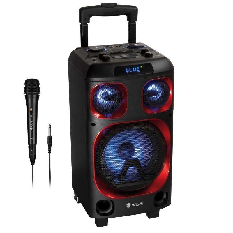 NGS Bluetooth Partyspeaker Højttaler 120W Wildska Zero – Sort