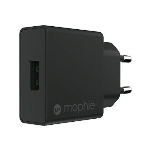 Mophie 18W PD Fast Charge Vægoplader m. USB-A - Sort