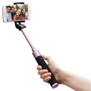 Spigen S530W Selfie Stick Bluetooth - Selfie Stang m. Knapudløser - Rose