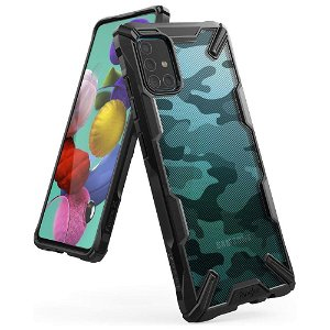 Samsung Galaxy A71 Ringke Fusion X Cover - Camo Sort