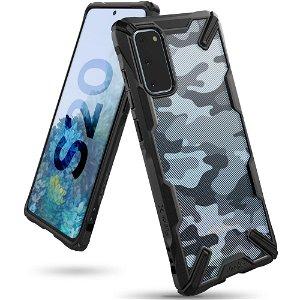 Samsung Galaxy S20 Ringke Fusion X Camo Cover - Sort