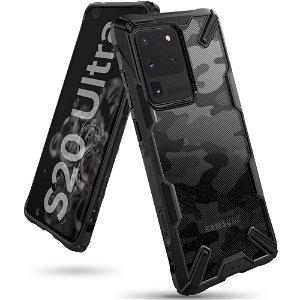 Samsung Galaxy S20 Ultra Ringke Fusion X Camo Cover - Sort