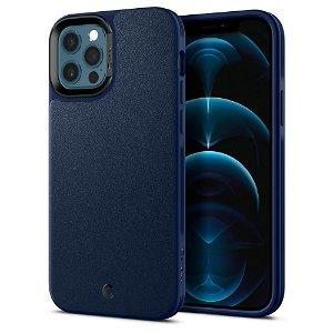 Spigen Ciel Cyrill iPhone 12 / 12 Pro Leather Brick Cover - Navy Blue