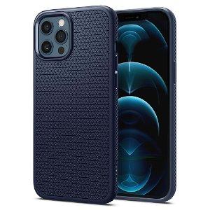 iPhone 12 Pro Max Spigen Liquid Air Cover - Blå