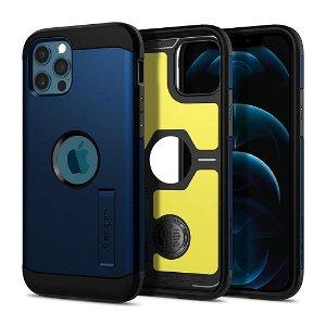 iPhone 12 Pro / 12 Spigen Tough Armor Cover - Navy Blue