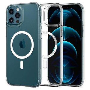 iPhone 12 / 12 Pro Spigen Ultra Hybrid Bagside Cover - MagSafe Kompatibel - Gennemsigtig