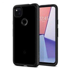 Google Pixel 4a Spigen Ultra Hybrid Case - Sort / Gennemsigtig