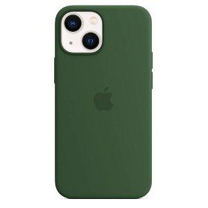 Original Apple iPhone 13 Mini Silikone MagSafe Bagside Cover Kløvergrøn (MM1X3ZM/A)