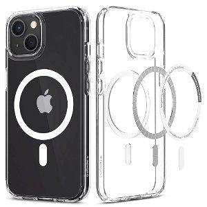 Spigen iPhone 13 Mini Ultra Hybrid Bagside Cover - MagSafe Kompatibel - Gennemsigtig / Hvid