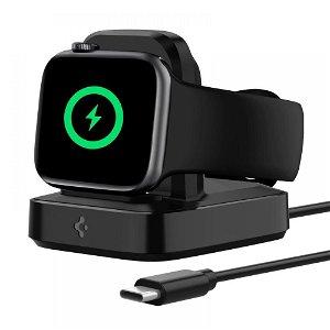 Spigen PF2002 PowerArc ArcField Apple Watch Oplader Stander - Sort