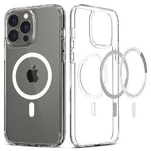 Spigen iPhone 13 Pro Ultra Hybrid Bagside Cover - MagSafe Kompatibel - Gennemsigtig / Hvid