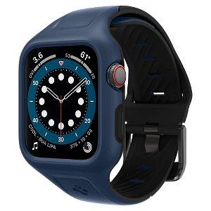 Apple Watch Series 3/4/5/6/7/SE 42-45mm SPIGEN Liquid Air Pro Case m. Rem - Blå