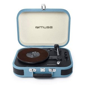 MUSE Bluetooth MT-201 Vintage Stereo Pladespiller - Vintage Blå