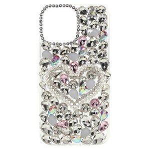 iPhone 13 Elegant Plastik Bagside Cover m. Diamant Udsmykning