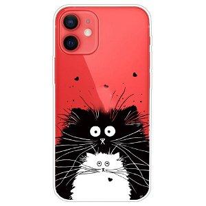 iPhone 13 Mini Fleksibel Gennemsigtig Plastik Bagside Cover - To Katte