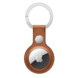 Original Apple AirTag Læder Nøglering - Saddelbrun