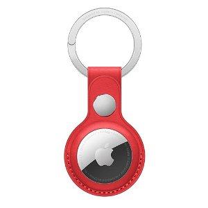 Original Apple AirTag Læder Nøglering (PRODUCT)RED - Rød