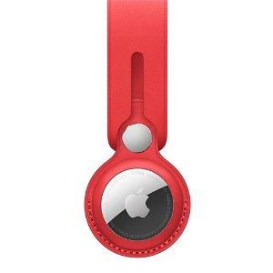 Original Apple AirTag Læder Rem (PRODUCT)RED - Rød