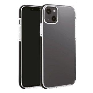 iPhone 13 Vivanco Rock Solid Bagside Cover - Gennemsigtig & Sort