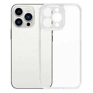 MOMAX iPhone 13 Pro Max Hybrid Plastik Case m. Glas Bagside - Gennemsigtig