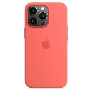 Original Apple iPhone 13 Pro Silikone MagSafe Bagside Cover Pink Pomelo (MM2E3ZM/A)