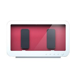 Vandtæt Cover / Holder m. Roterbar Vægbeslag til Smartphone - Hvid