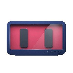 Vandtæt Cover / Holder m. Roterbar Vægbeslag til Smartphone - Blå