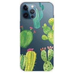 iPhone 13 Pro Max Fleksibel Plastik Bagside Cover - Kaktus