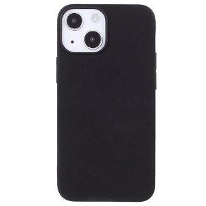iPhone 13 Mini Fleksibelt Plastik Bagside Cover - Sort