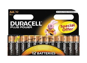 Duracell Plus Power AA Alkaline 12pk Batterier